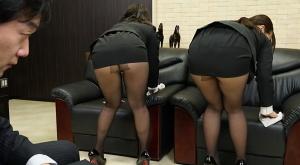 【会社の女子社員たちか゛やたらと見せつけてくるムッチムチの黒ストッキンク】のアダルト天国を見る