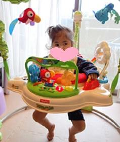 ジャンパルーにのるあおい2歳3か月