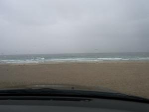 大雨の為に車の中から撮影しました! 下田 アラカワ 荒川時計店 多々戸浜