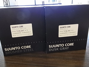 SUUNTO CORE BRUSHED STEEL&SUUNTO CORE DUSK GRAYがそれぞれの魅力が爆発です☆