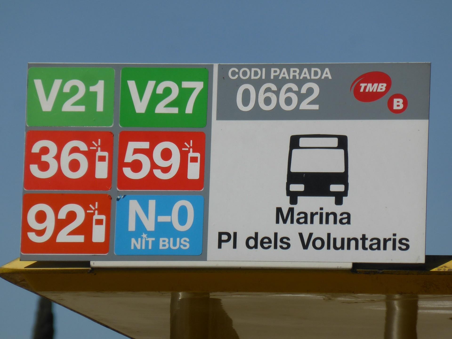 市バス、バス停