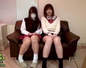 【えんじょ交際動画】一人だとちょっと怖くて友達と一緒に円光しちゃう今時の女子校生!