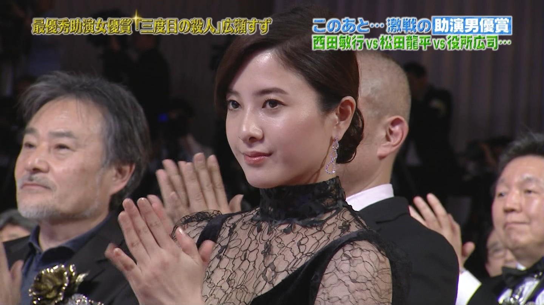 吉高由里子 JAPANアカデミー賞でブラなし透け透け衣装☆☆wwwwwwwwwwwwww