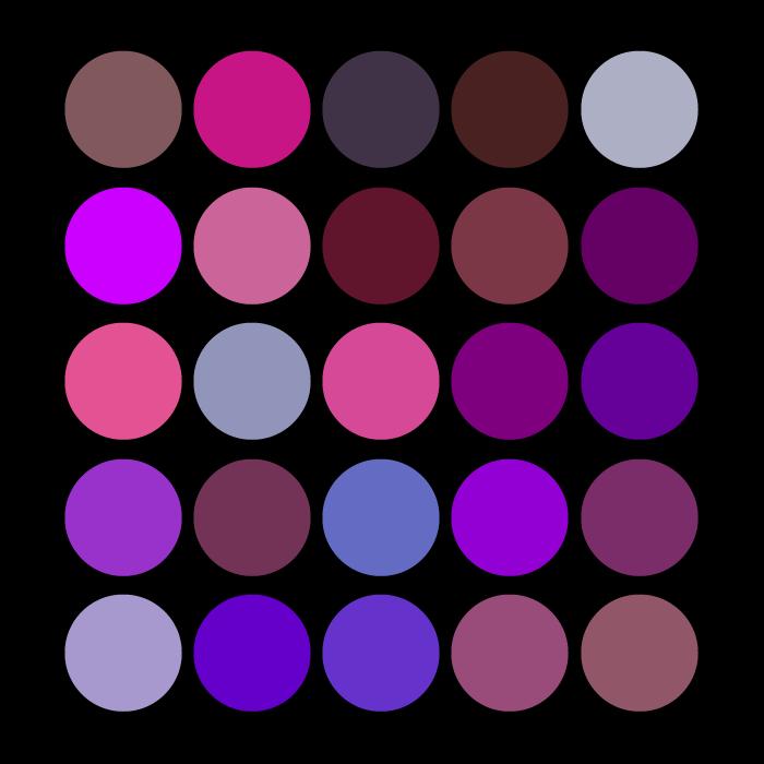 purple on black