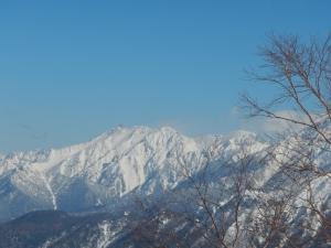 猫岳付近から槍ヶ岳