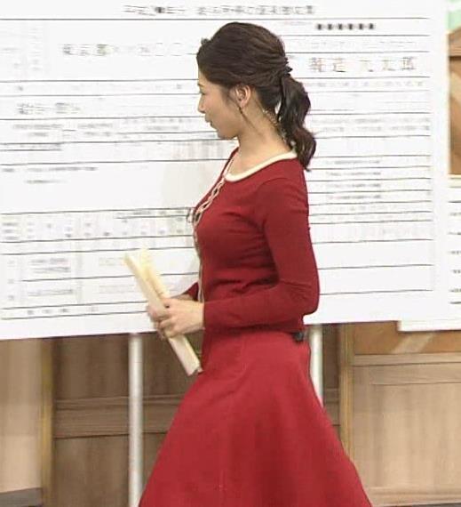 桑子真帆アナ 胸がDカップ以上に成長してそう
