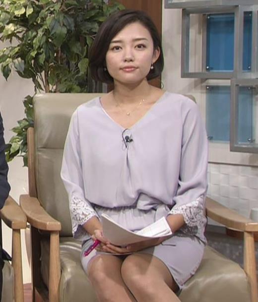 阿部優貴子アナ ミニスカ美脚