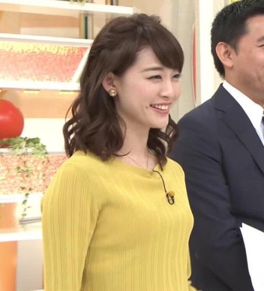 新井恵理那アナ ニット乳?