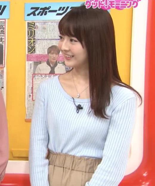 福田成美 ニット乳