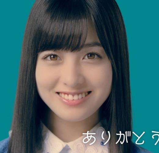 橋本環奈 CMでの乳揺れGIF動画