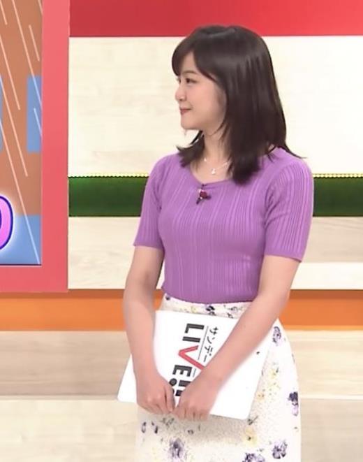 林美桜アナ テレ朝の若手女子アナのニットおっぱい