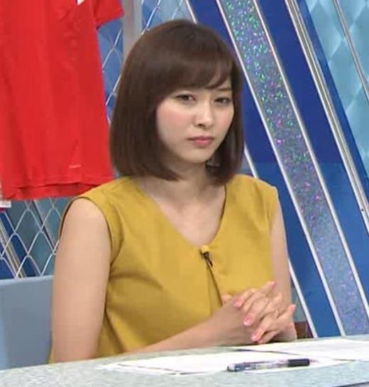 久冨慶子アナ ふっくら二の腕