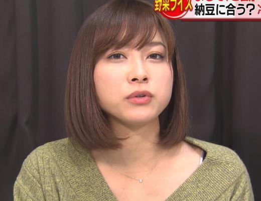 久冨慶子アナ 胸元ちょっと露出