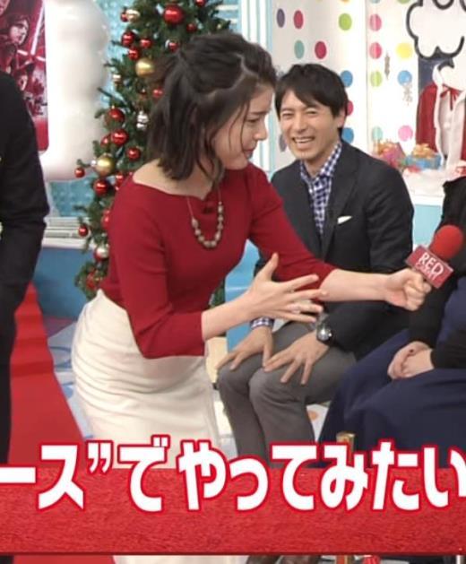 川島海荷 タイトな服の体つきがエロ過ぎ
