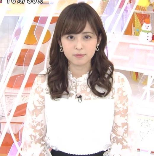 久慈暁子アナ 透け透け衣装