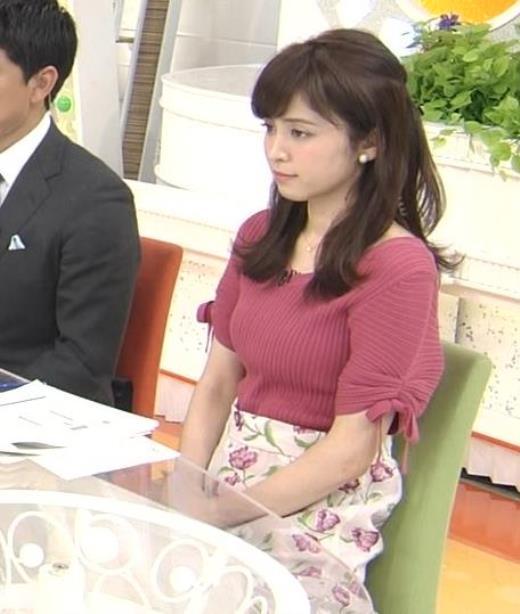 久慈暁子アナ エロかわいいニットおっぱい