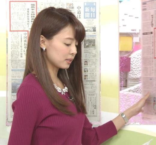 宮澤智アナ ニット★横乳