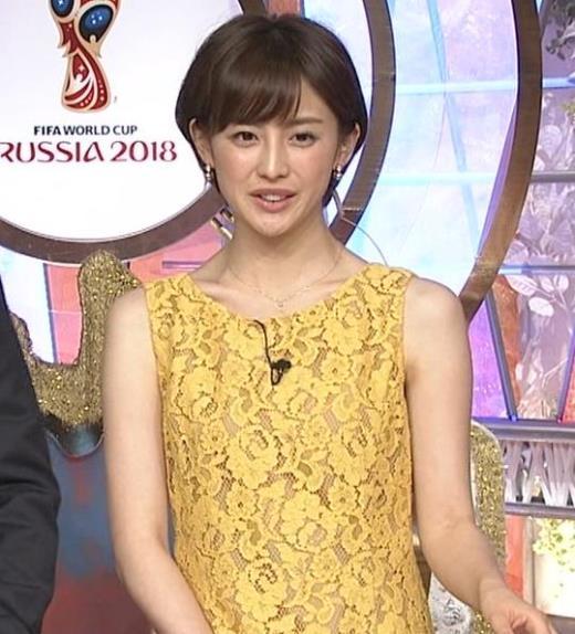宮司愛海アナ 透けているように見えるワンピース