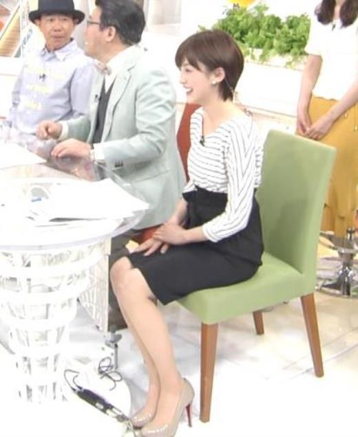 宮司愛海アナ ミニスカ美脚のふくらはぎ