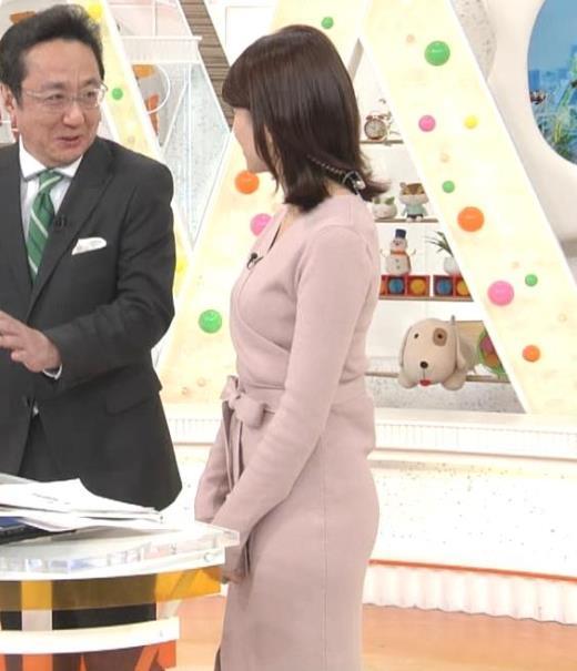 永島優美アナ プリケツがクッキリ!