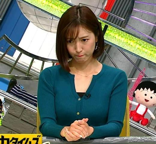 小澤陽子アナ 胸元開いててエロい