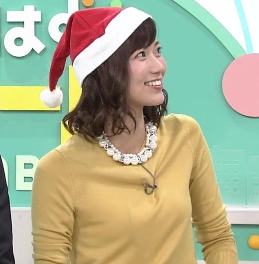 斎藤真美アナ サンタ帽
