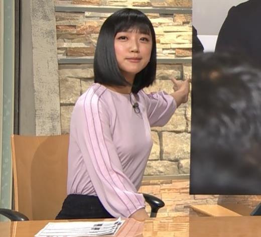 竹内由恵アナ パツパツに張ったおっぱい