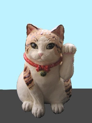 招き猫 茶トラ模様 すず音窯 陶芸作家