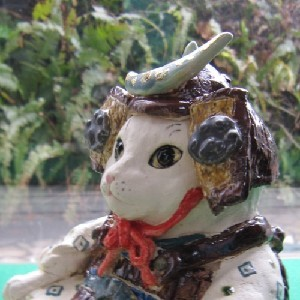 猫の五月人形