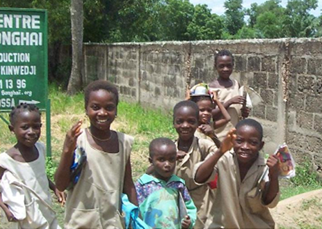 ベナンの農村の子供たち