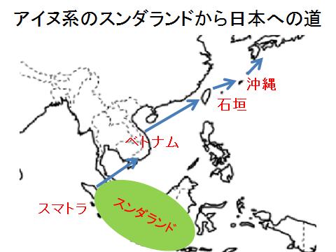 アイヌ系のスンダランドから日本への道