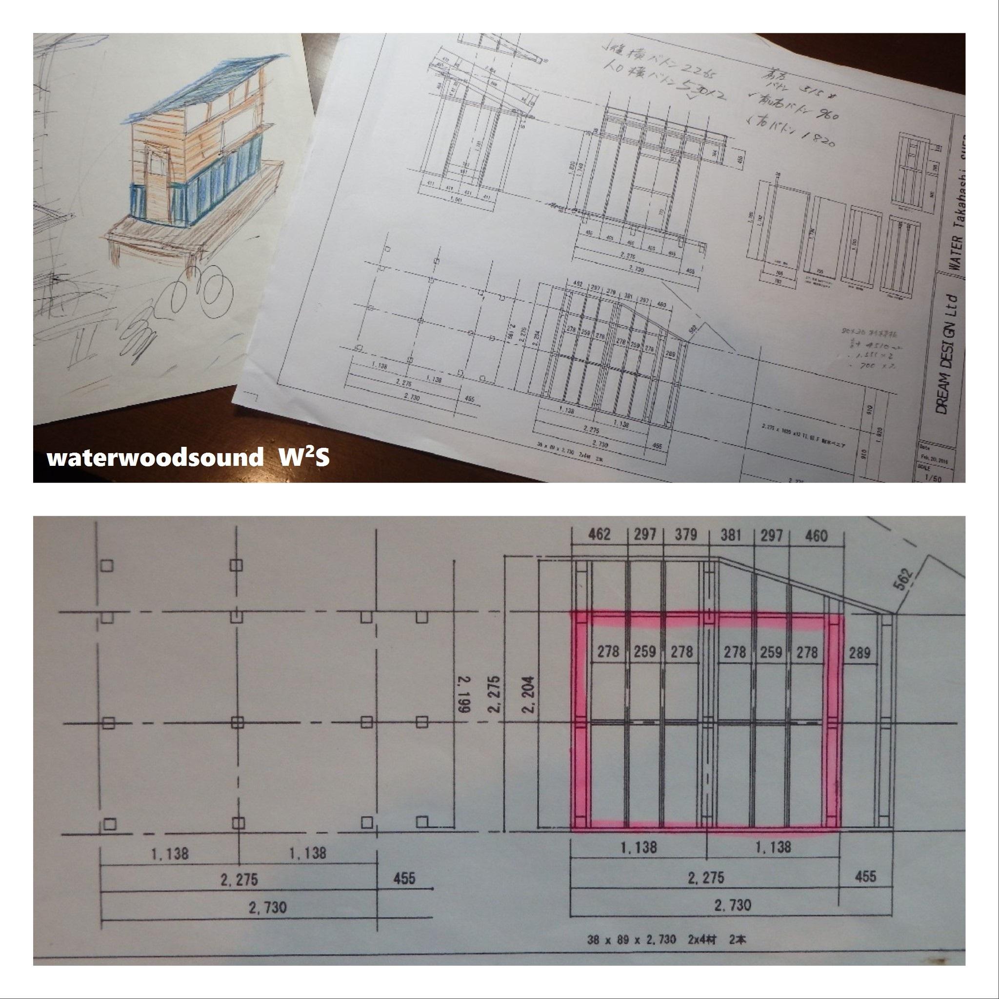 小屋 DIY イメージ図&設計図
