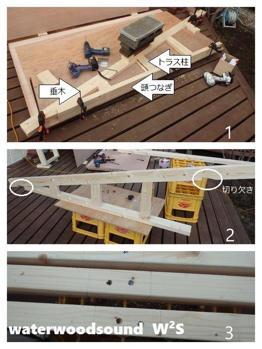 小屋 DIY トラス 2