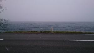 洞爺湖畔。