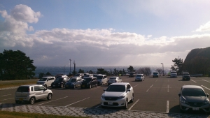 ホテル恵風、駐車場。