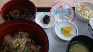 桜勘、カンパチ定食。