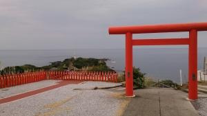 長崎鼻、神社。