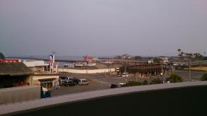 ねじめ温泉・ネッピー館 部屋のベランダから根占港を眺望