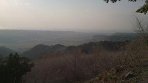 高峠からの光景。