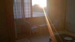 嶽の湯。部屋からの夕日。