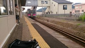 JR神宮寺駅。