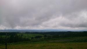 美幌峠から、北面盆地方面。