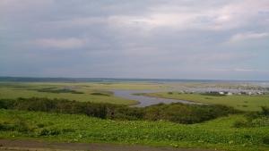 琵琶瀬展望台、霧多布湿原の眺望。