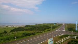 琵琶瀬展望台、海岸道路。