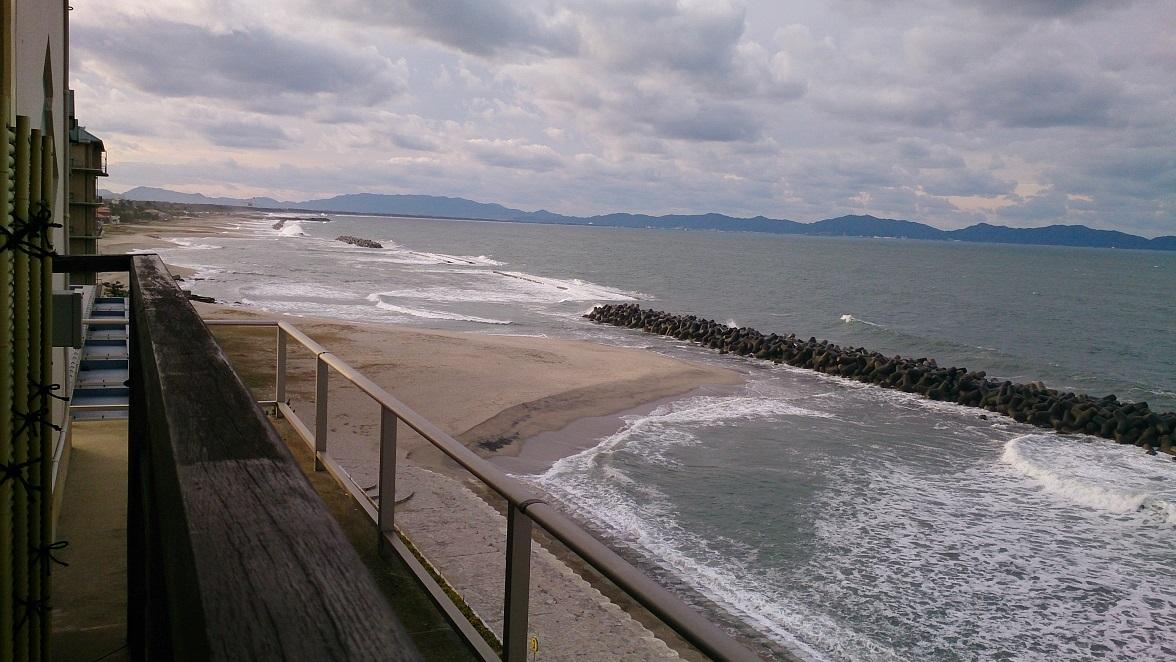 海色・湯の宿 松月、大浴場・露天風呂からの眺め。