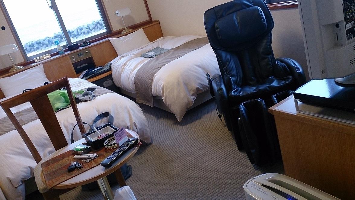 海色・湯の宿 松月、ツインベッド洋室