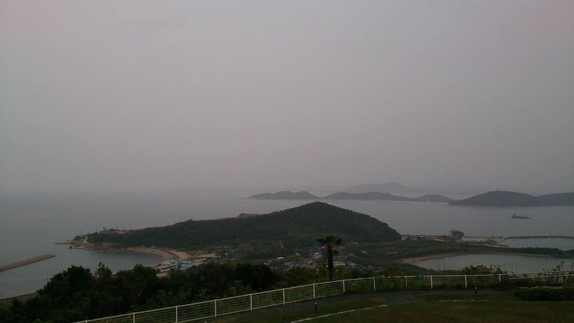 海眺の宿 あいお荘、海側和室からの眺望