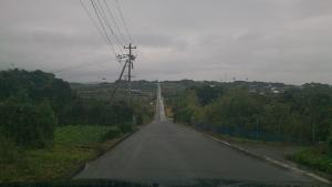 加部島の直線道路