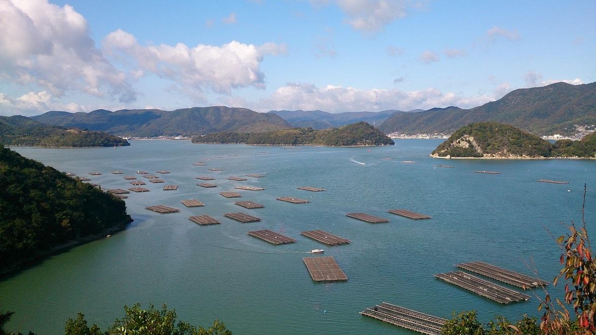 岡山ブルーライン 片上大橋付近の眺望