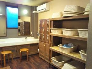 鷹の家、大浴場、脱衣場。